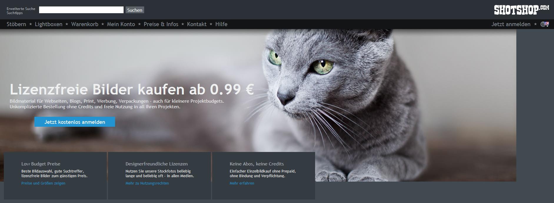 Shotshop Stockdatenbank - 8 deutsche Stockdatenbanken, die du noch nicht kennst